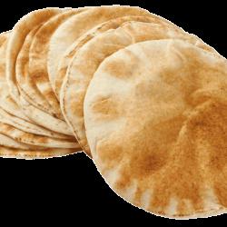خبز عربي - 6 أرغفة