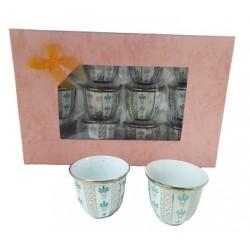 Tasses à café arabe - 12 pièces - modèle 1154