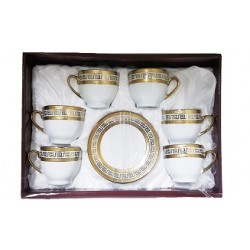 Turc, tasse de café arabe - grandes - dorées- 6 pièces - Modèle 1157