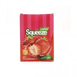 عصير مركز - بطعم فراولة - 12 ظرف - ماركة سكويز