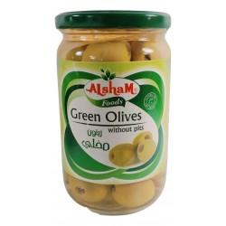 زيتون أخضر مخلي - ماركة الشام - 650غ
