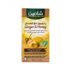 زنجبيل مع العسل - 20 ظرف- ماركة شامين 50غ