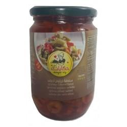 Olives green - Salad - Slices - Hekayat Sity 650g