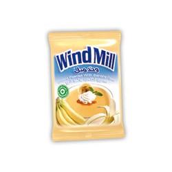 مسحوق الكاسترد - بنكهة الموز - ماركة ويندميل 1 ظرف 45غ