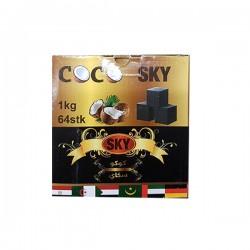 Charbon de bois pour Narguilé - coco Sky